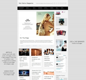 Moi Ostrov Russian Fashion Magazine in Cyprus digital advertising placements